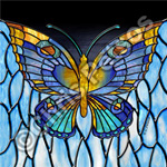 stained glass butterfly souvenir gift products
