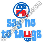 say no to thugs t shirt
