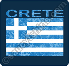 crete t shirt with greek flag