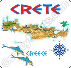 map of crete t shirt