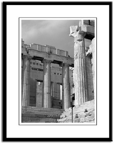 acropolis parthenon framed print photography