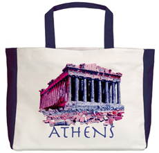 Athens Parthenon beach tote