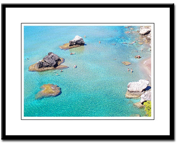 beach in corfu greece framed print
