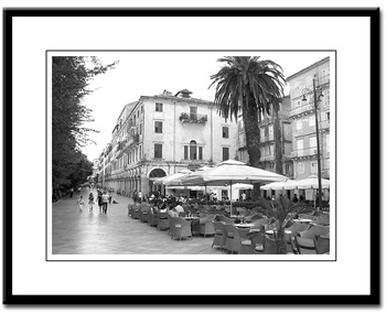 corfu town esplanade framed print photography