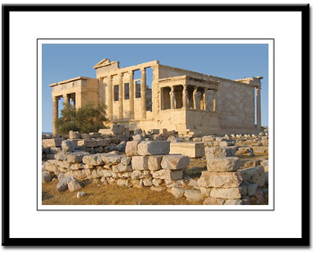 erectheion greece framed print