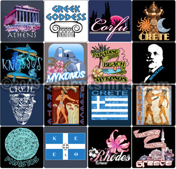 Greece T-shirts and gifts link