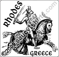 medieval knight rhodes t shirt greece