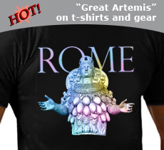 new rome t shirt with Artemis