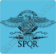 roman eagle t shirt SPQR