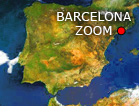 barcelona satellite map