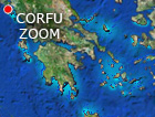 Corfu satellite map