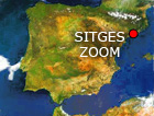 sitges satellite map